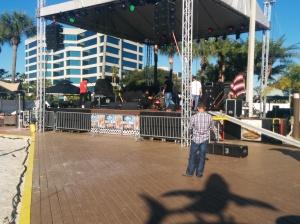 Stage set up @ Hogan's Beach